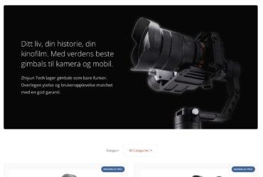 Zhiyun Tech Norge har de beste prisene direkte fra produsenten uten mellomledd.